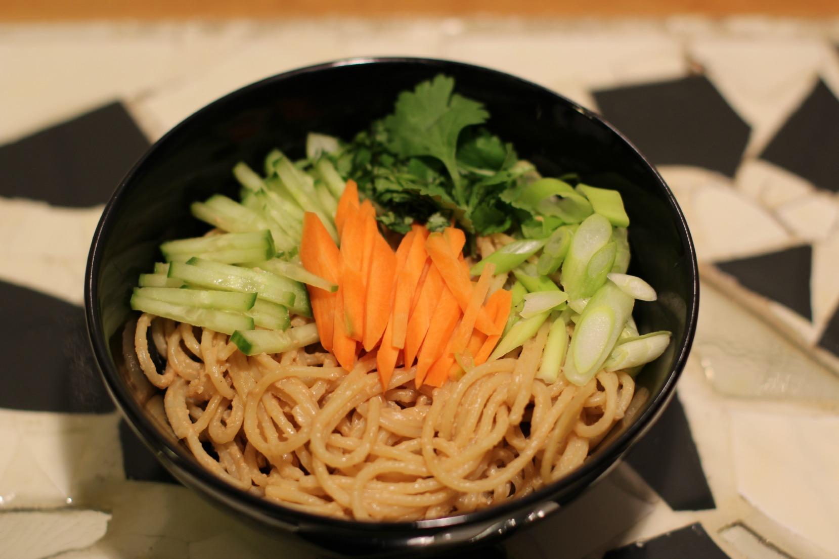 Rezept für Leng Mian - Chinesischer Erdnussnudelsalat