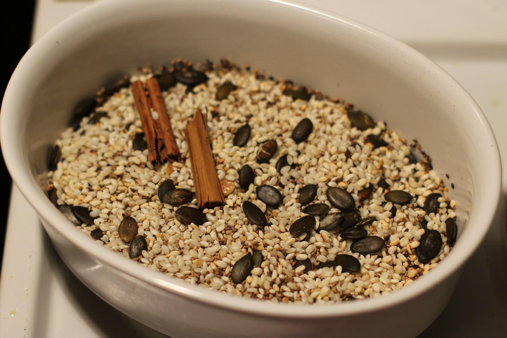 geröstete Zutaten Horchata / roasted ingredients / ingredientes ya tostados