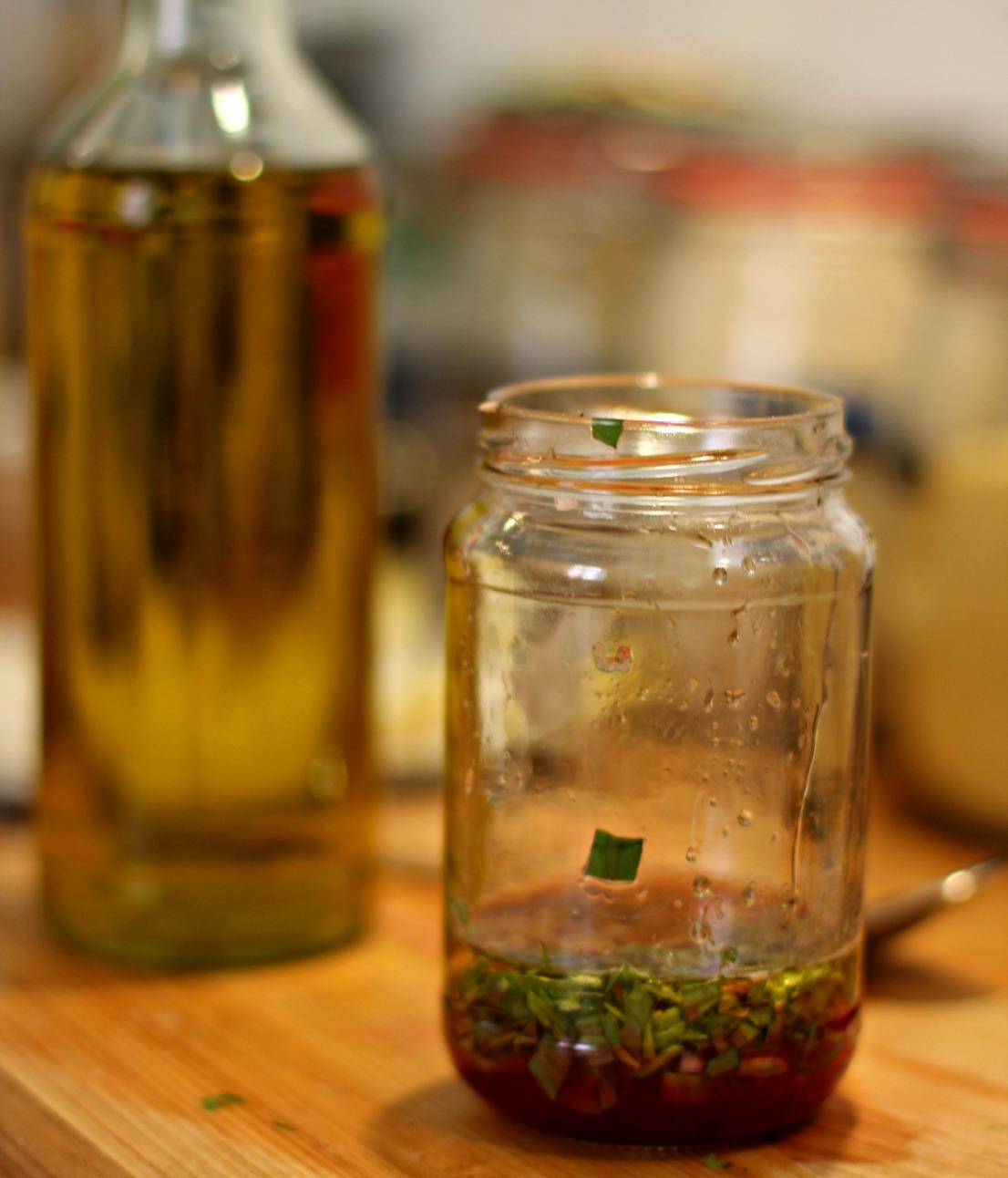 Estragon-Blutorangen-Vinaigrette für den Palmenherzensalat