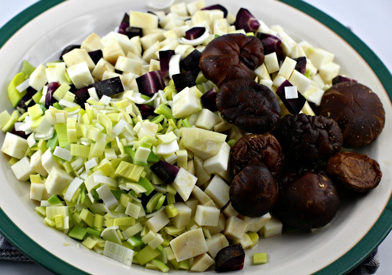 Gemüse für Rouladensoße