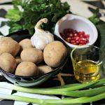 Zutaten arabischer Kartoffelsalat